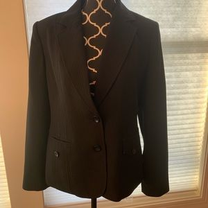Lined black blazer